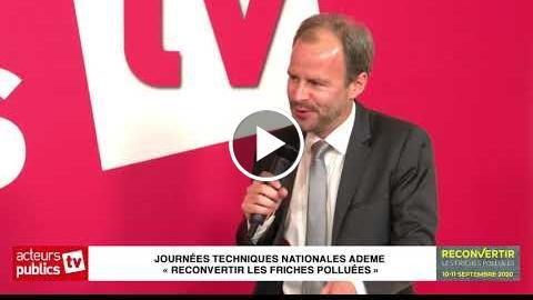 Interview d'Arnaud Leroy dans le cadre des journées « reconvertir les friches polluées »